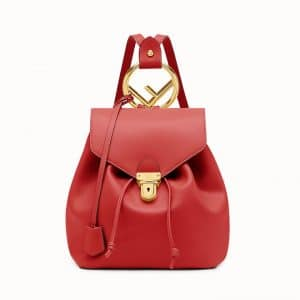 Fendi Red Backpack Bag