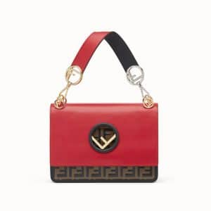 Fendi Red FF Kan I Logo Bag