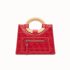 Fendi Red FF Runaway Small Shopper Bag