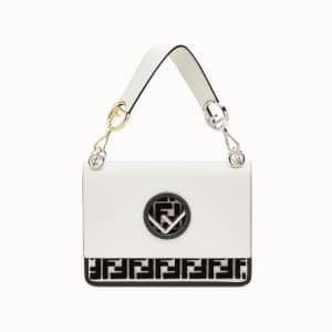 Fendi White FF Kan I F Bag
