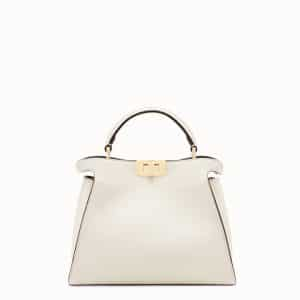 Fendi White Peekaboo Essential Medium Bag
