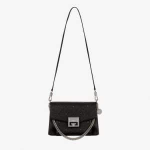 Givenchy Black 4G Quilted GV3 Small Flap Bag