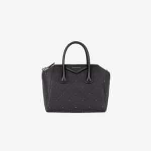 Givenchy Black 4G Quilted with Studs Small Antigona Bag
