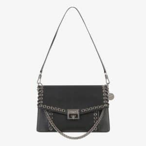 Givenchy Black Eyelets Medium GV3 Flap Bag