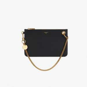 Givenchy Black GV Flat Pouch Bag