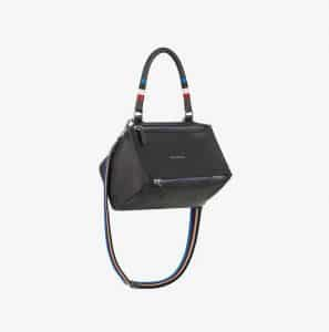 Givenchy Black Striped Handle Small Pandora Bag