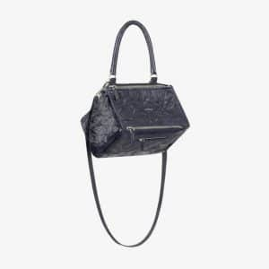 Givenchy Dark Blue Aged Leather Small Pandora Bag