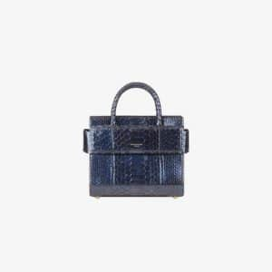 Givenchy Dark Blue Iridescent Python Mini Horizon Bag