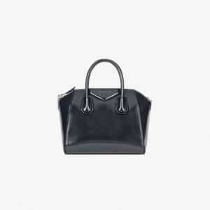 Givenchy Dark Blue Patent Small Antigona Bag