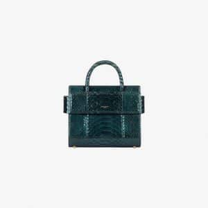 Givenchy Dark Green Iridescent Python Mini Horizon Bag