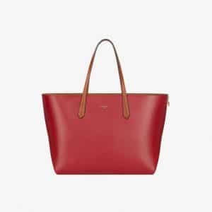 Givenchy Dark Red GV Shopper Tote Bag