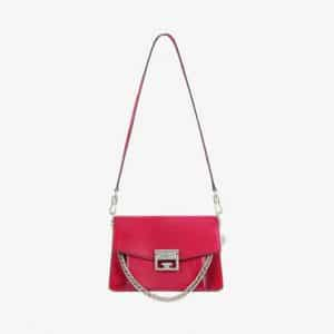 Givenchy Fig Pink/Cherry Suede/Leather:Suede GV3 Small Flap Bag