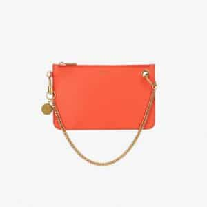 Givenchy Poppy Red GV Flat Pouch Bag