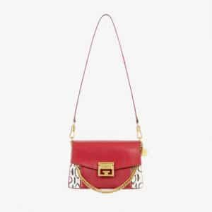 Givenchy Red/Natural Leather/Ayers GV3 Small Flap Bag