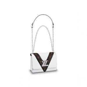 Louis Vuitton Blanc Epi/Monogram Studded Twist MM Bag
