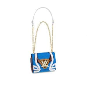 Louis Vuitton Blue Technical Fabric Twist PM Knit Bag