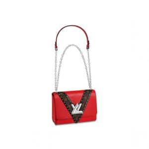 Louis Vuitton Coquelicot Epi/Monogram Studded Twist MM Bag