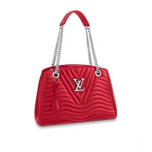 Louis Vuitton Coquelicot New Wave Chain Tote Bag