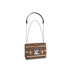 Louis Vuitton Damier Ebene Time Trunk Twist MM Bag