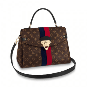 Louis Vuitton Marine Cerise Monogram Canvas Georges MM Bag