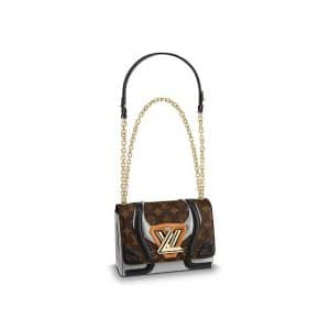 Louis Vuitton Monogram Canvas Twist MM Knit Bag