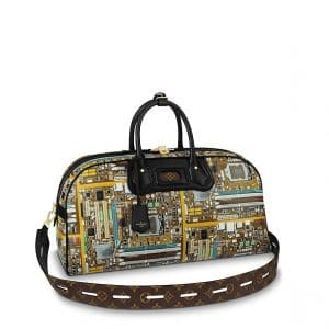 Louis Vuitton Multicolor Motherboard Print LV Week-End Bag