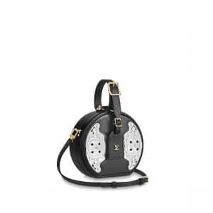 Louis Vuitton Noir Epi Metallic West Petite Boite Chapeau Bag