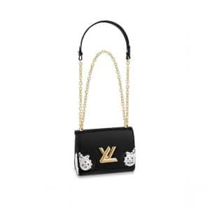 Louis Vuitton Noir Epi Metallic West Twist PM Bag
