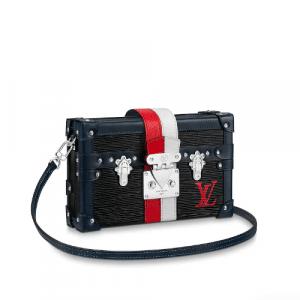 Louis Vuitton Noir Epi Petite Malle Bag