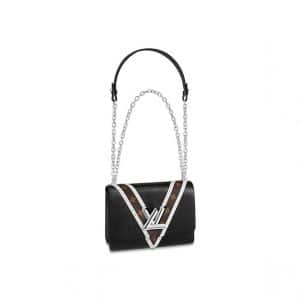 Louis Vuitton Noir Epi/Monogram Studded Twist MM Bag