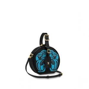 Louis Vuitton Noir Floral Petite Boite Chapeau Bag