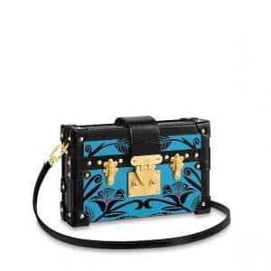 Louis Vuitton Noir Floral Petite Malle Bag