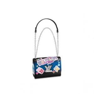 Louis Vuitton Noir Kawai Blossom Twist MM Bag