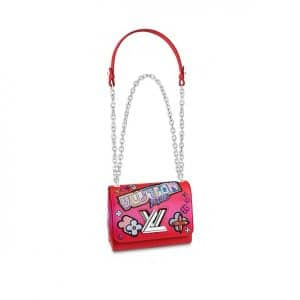 Louis Vuitton Red Kawai Blossom Twist PM Bag