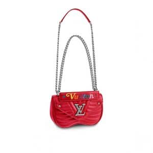 Louis Vuitton Red New Wave Chain PM Bag