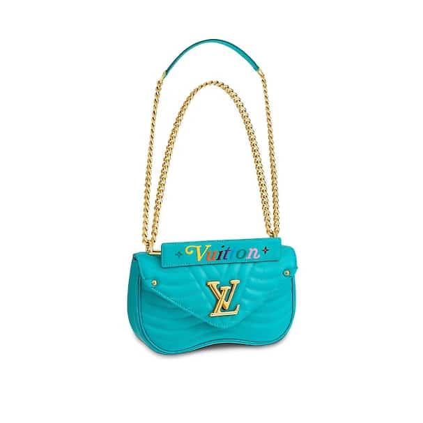 3334506103b Louis Vuitton Turquioise New Wave Chain MM Bag