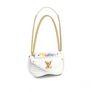 Louis Vuitton White New Wave Chain MM Bag