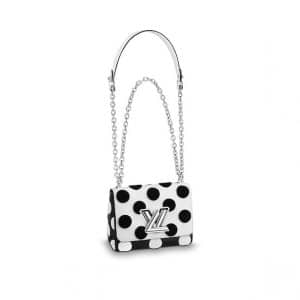 Louis Vuitton White/Noir Polka Dots Twist PM Bag
