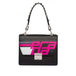 Prada Black Logo Elektra Shoulder Bag