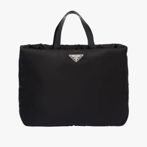 Prada Black Medium Padded Nylon Tote Bag