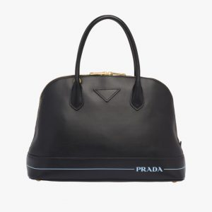 Prada Black Mirage Large Top Handle Bag