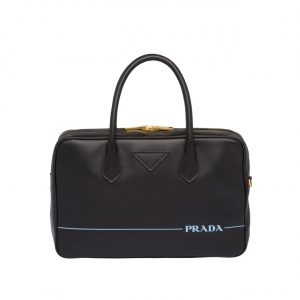Prada Black Mirage Medium Top Handle Bag