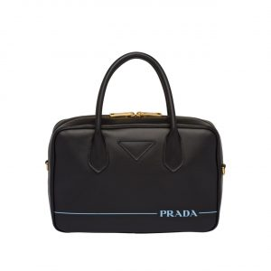 Prada Black Mirage Small Top Handle Bag