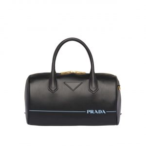 Prada Black Mirage Top Handle Bag