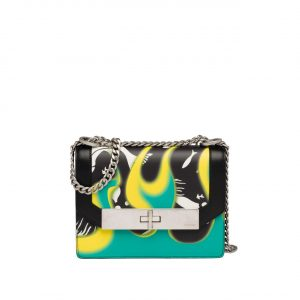 Prada Black/Green Printed Séverine Shoulder Bag