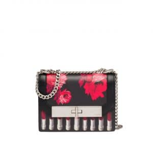 Prada Black/Red Printed Séverine Shoulder Bag
