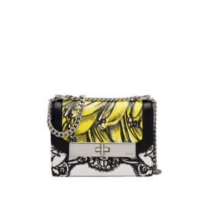 Prada Black/Yellow Printed Séverine Shoulder Bag