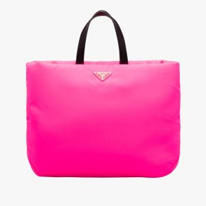 Prada Fuchsia Large Padded Nylon Tote Bag