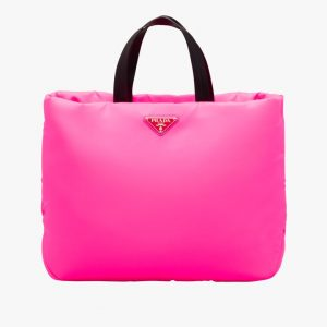 Prada Fuchsia Medium Padded Nylon Tote Bag