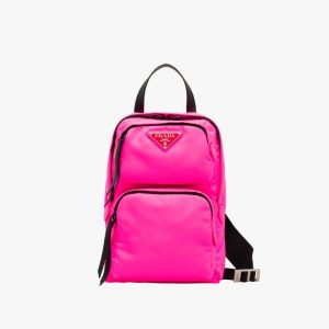 Prada Fuchsia Nylon One-Shoulder Backpack Bag